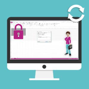 Ecran d'ordinateur ouvert sur un logiciel