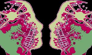 Profil de deux visages