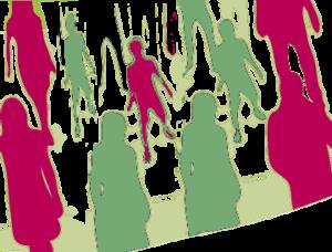 Foule de silhouettes