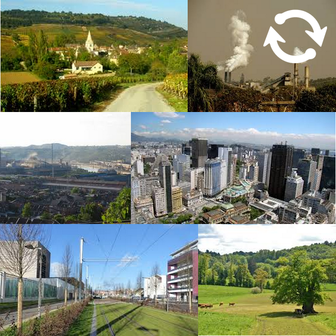 Paysages de villes et de campagnes