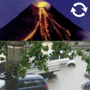 Volcan et innondation