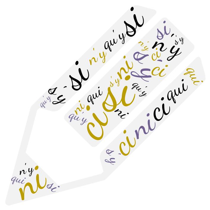 Homophones écris sur un crayon