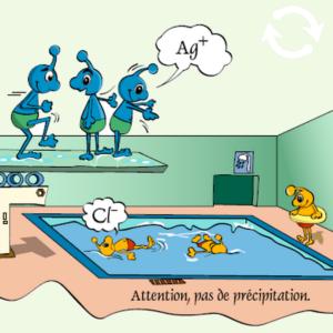 Petits personnages à la piscine
