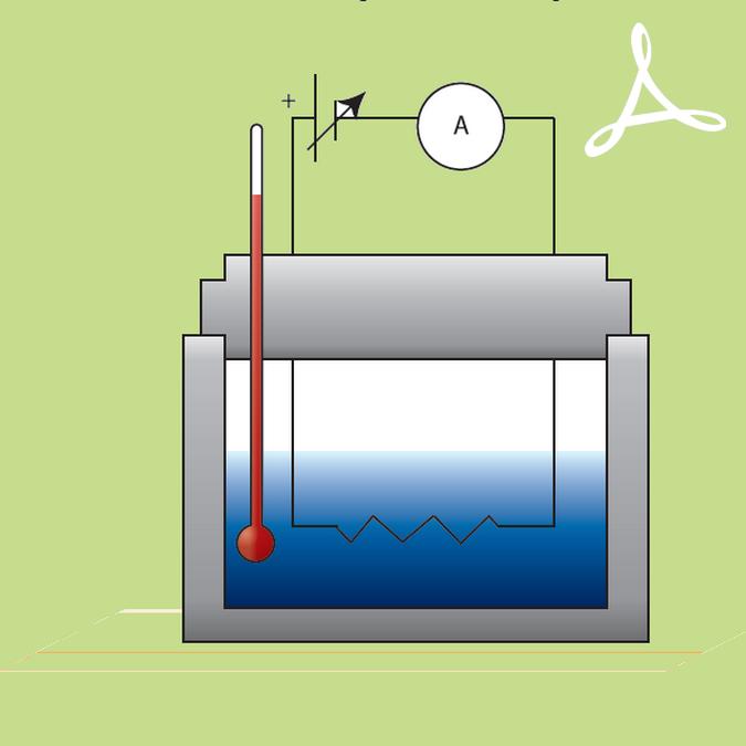 Prise de température de l'eau avec thermomètre
