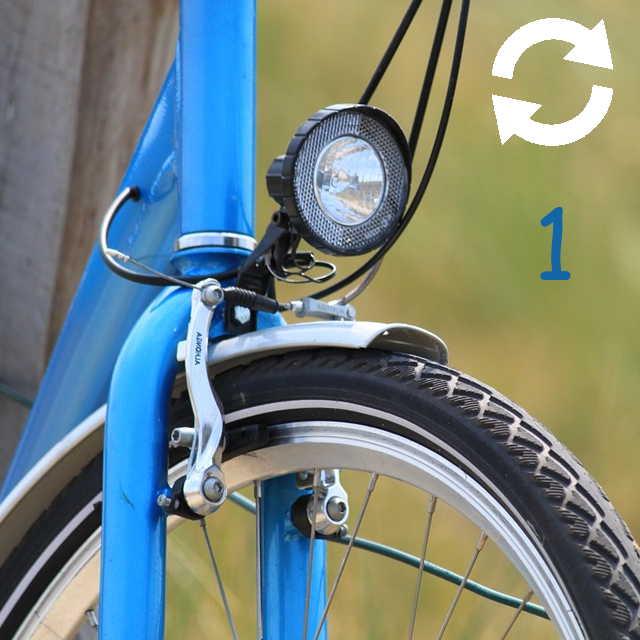 Zoom sur la partie avant d'un vélo