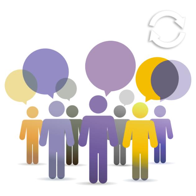 Groupe de personnes qui parlent