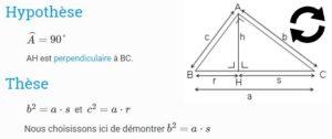 Thèse et hypothèse mathématique