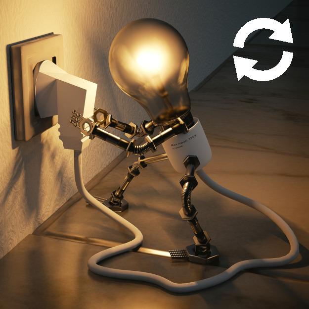Ampoule branchée à une prise