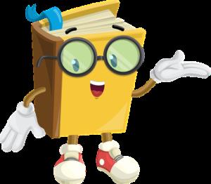 Personnage livre avec lunettes