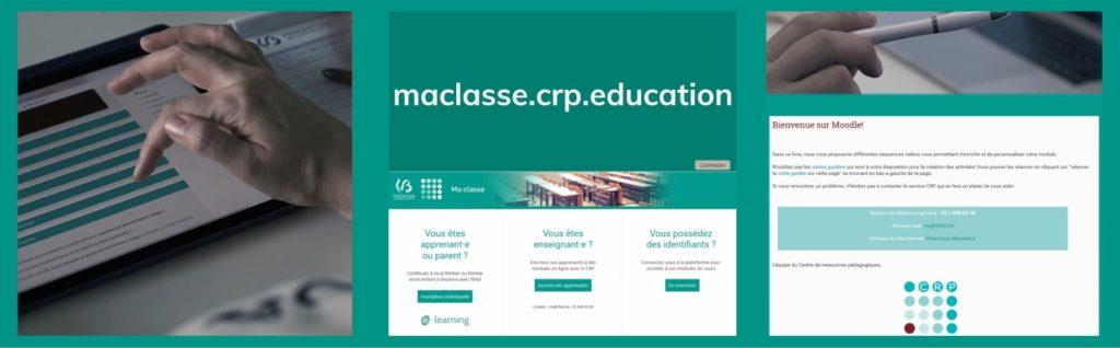 Bandeau décoratif plateforme https://maclasse.crp.education